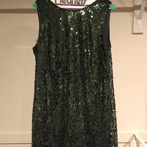 NWOT Jessica Simpson green sequin dress